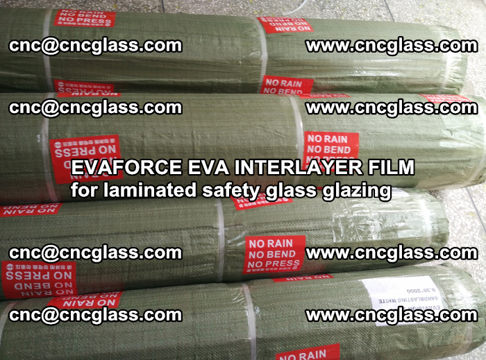 EVAFORCE EVA INTERLAYER FILM for laminated safety glass glazing (100)