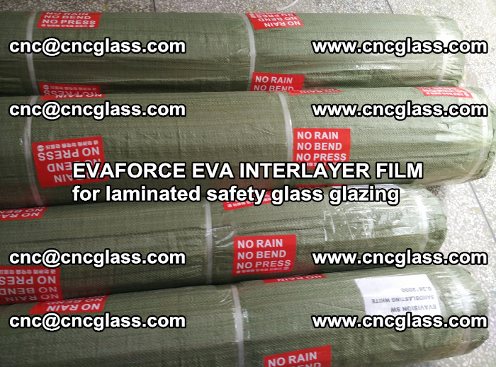 EVAFORCE EVA INTERLAYER FILM for laminated safety glass glazing (101)