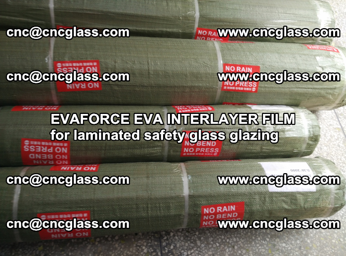 EVAFORCE EVA INTERLAYER FILM for laminated safety glass glazing (105)