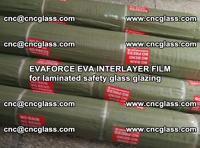 EVAFORCE EVA INTERLAYER FILM for laminated safety glass glazing (107)