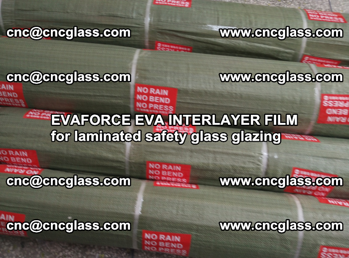 EVAFORCE EVA INTERLAYER FILM for laminated safety glass glazing (110)