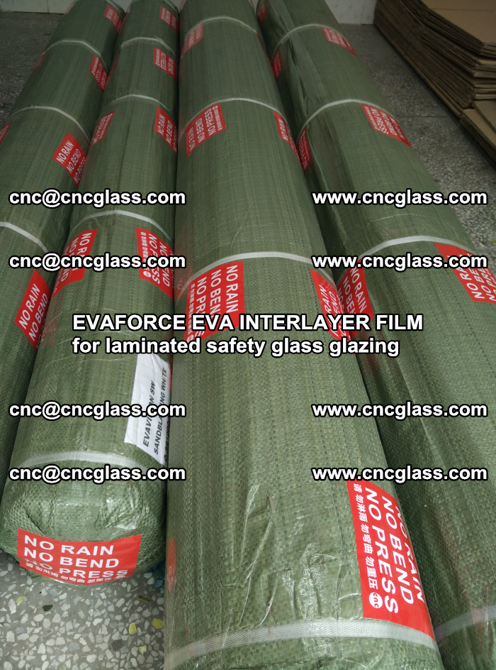 EVAFORCE EVA INTERLAYER FILM for laminated safety glass glazing (118)