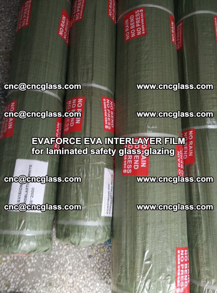 EVAFORCE EVA INTERLAYER FILM for laminated safety glass glazing (75)