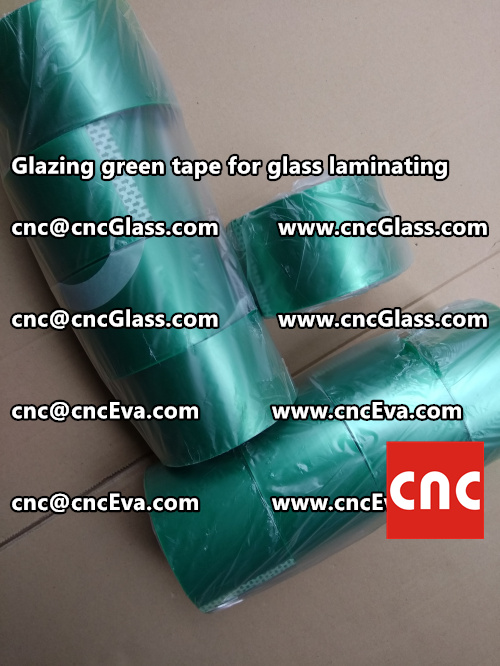 heat resistance green tape for glass vacuum (1)